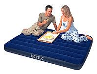 Матрас надувной односпальный 191х99х22см, max 136 кг, Intex 68757, поверхность флок