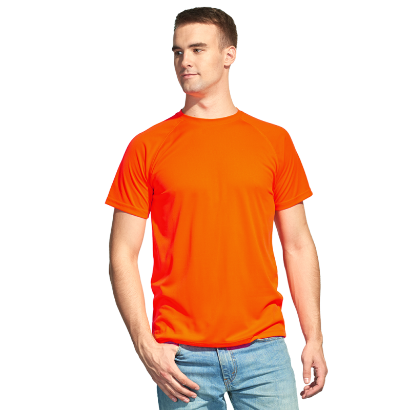 Футболка 30_Оранжевый неон (128) (L/50)