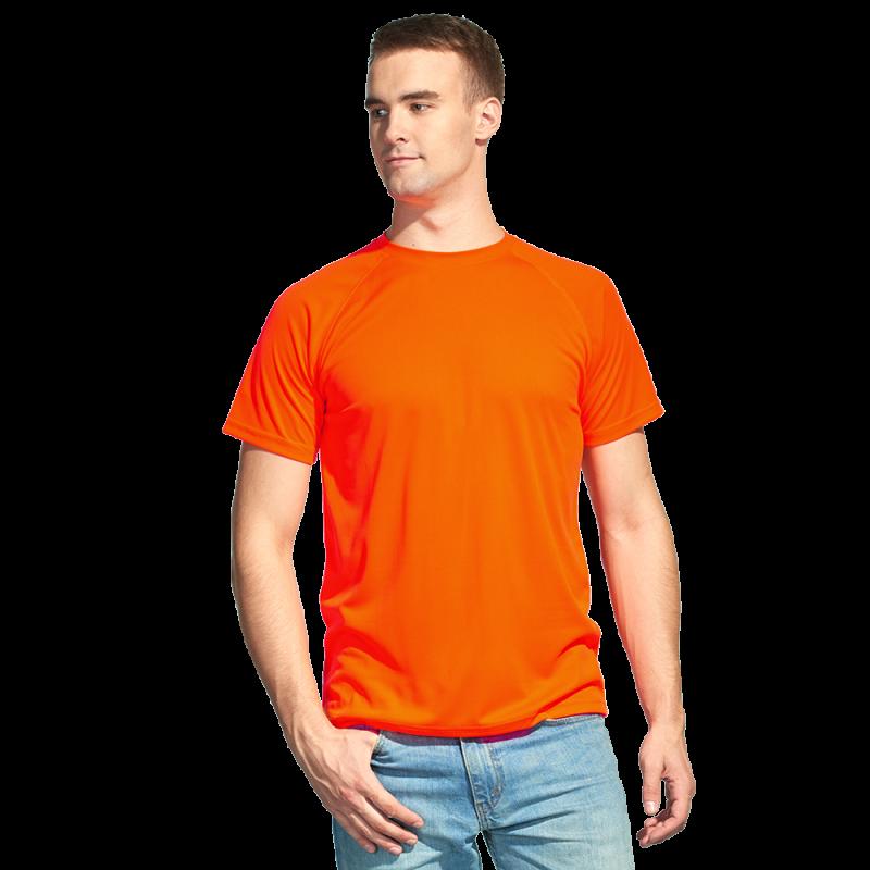 Футболка 30_Оранжевый неон (128) (14 лет)