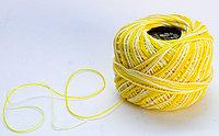 """Нитки для вязания """"Ирис"""", бело-желтые"""