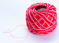 """Нитки для вязания """"Ирис"""", бело-красные"""
