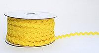 Декоративная лента для одежды, кружевная, желтая