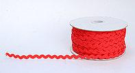 Декоративная лента для одежды, кружевная, красная