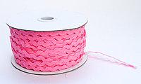 Декоративная лента для одежды, кружевная, розовая
