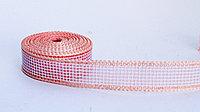 Декоративная лента полу-прозрачная, тканная, розовая, 2.5 см