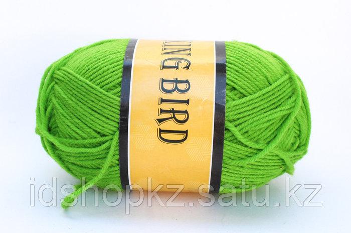 Пряжа акриловая, KING BIRD, 100 гр., зеленая