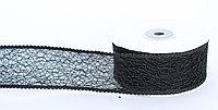 Декоративная лента паутинка, кружевная полу-прозрачная, черная, 3.5 см