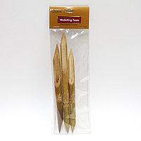 Набор двусторонних бамбуковых перьев для письма и каллиграфии, 3 шт.