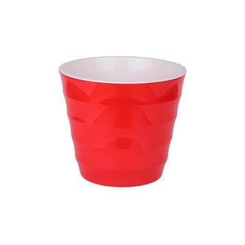 Пластиковый горшок с вкладкой «Лаура», цвет красный