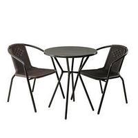 Комплект мебели Асоль-5 LRC01/LRT01-D60 Dark Brown (21) (имитация ротанга)