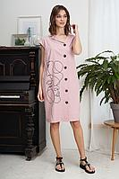 Женское летнее розовое платье Fantazia Mod 3931 52р.