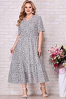 Женское летнее шифоновое большого размера платье Aira Style 823 леопард 56р.