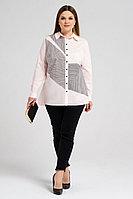Женская летняя хлопковая розовая большого размера блуза Панда 34843z светло-розовый 58р.