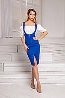 Женский летний джинсовый синий сарафан DoMira 05-37 васильковый 42р.