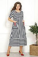 Женское летнее большого размера платье Solomeya Lux 823 52р.