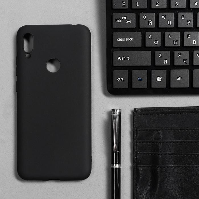 Чехол Innovation, для Huawei Honor 8A/Y6 (2019), силиконовый, матовый, черный - фото 1