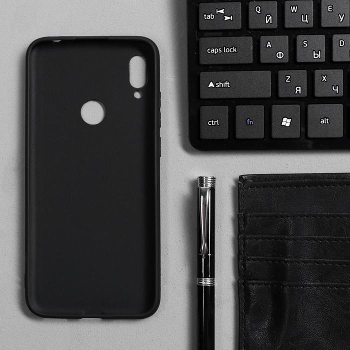 Чехол Innovation, для Huawei Honor 8A/Y6 (2019), силиконовый, матовый, черный - фото 2