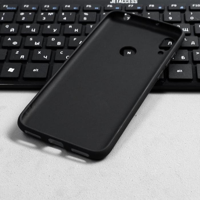 Чехол Innovation, для Huawei Honor 8A/Y6 (2019), силиконовый, матовый, черный - фото 3