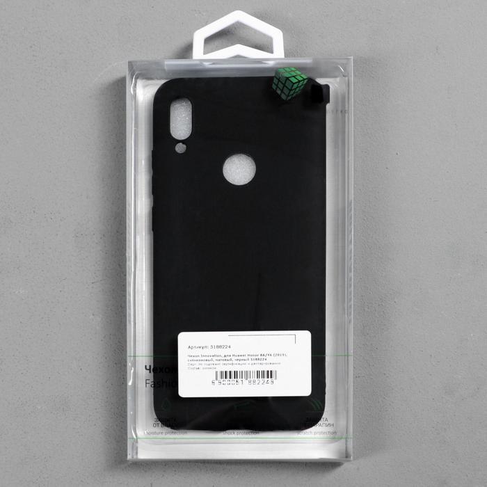 Чехол Innovation, для Huawei Honor 8A/Y6 (2019), силиконовый, матовый, черный - фото 4