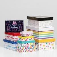 Набор коробок 10 в 1 'С Днём Рождения', 30,5 х 20 х 13 - 12 х 6,5 х 4 см