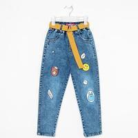 Джинсы-джогеры для мальчика, цвет синий, рост 122 см