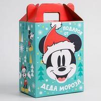 Коробка подарочная складная 'С Новым Годом! Подарок деда Мороза', Микки Маус и друзья, 16 х 21 х 10 см