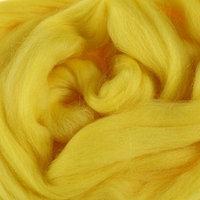 Шерсть для валяния 100 полутонкая шерсть 50 г (029, лимон яркий)