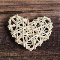 Декор для творчества из лозы 'Сердце', цвет натуральный