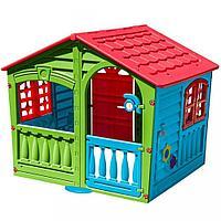 Игровой домик PalPlay Фермер со светом и звуком - красный, зеленый, голубой