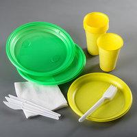 Набор одноразовой посуды 'Светофор', 3 персоны, цвет МИКС