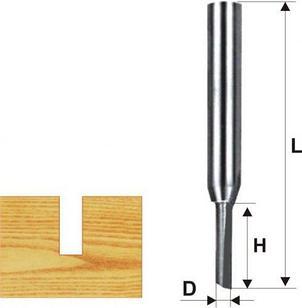 Фреза пазовая прямая ф4х13мм хв. 8мм