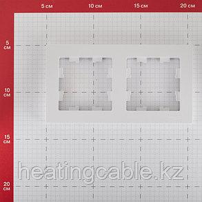Atlas Design рамка 2-постовая белый, фото 2