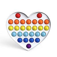 Игрушка антистресс Pop it на пластиковой основе сердце