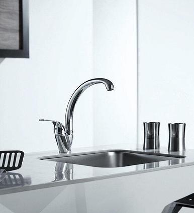 Смеситель для кухни низкий с изливом 220 мм BRAVAT FIT F7135188CP-1-RUS