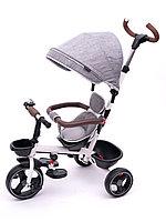 Трехколесный велосипед с поворотным сиденьем Tomix Beatle, серый