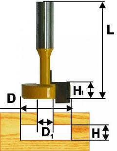 Фреза пазовая конструкционная ф25,4мм Т-обр хв. 12мм