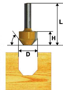 Фреза пазовая фасонная Ф11,9Х13 мм, 30°, хвостовик 8 мм