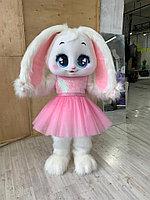 Прокат ростовая кукла Зайчик розовый в Алматы