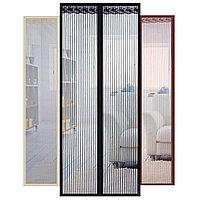 Москитная сетка дверная на магнитах Антимоскитная сетка 210×120см (в ассортименте)