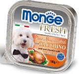 Monge Fresh 100г с Индейкой паштет для собак Pate with Chunkies Turkey