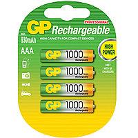 Аккумуляторы GP AAA 1000 mAh 1.2V Ni-MH, 4шт
