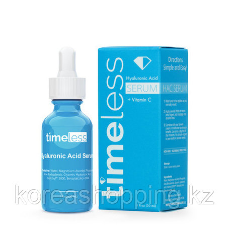 Сыворотка с гиалуроновой кислотой и витамином С Timeless Skin Care Hyaluronic Acid + Vitamin C Serum, 30мл, фото 2