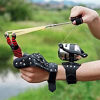 Рогатка для рыбалки и охоты со стрелами и защитой из кожи для рук оригинал
