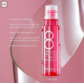 Протеиновая маска-филлер для поврежденных волос Masil 8 Seconds Salon Hair Repair Ampoule, 15ml, фото 2