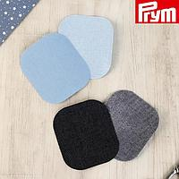Заплатки для одежды, 9 × 8 см, термоклеевые, 4 шт, цвет голубой/тёмно-синий