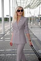 Женский летний серый деловой нарядный деловой костюм Azzara 428М 42р.