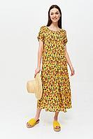 Женское летнее хлопковое большого размера платье Lyushe 2642 54р.