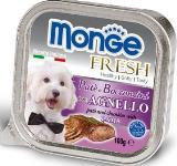 Monge Fresh 100г с Ягненком паштет для собак Pate with Chunkies Lamb