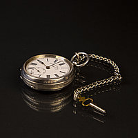 Серебряные карманные часы XIX века J. G. Graves Sheffield Английские часы с ключевым заводом