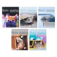 Тетрадь 48 листов в клетку 'Кошкин дом', обложка мелованный картон, УФ-лак, МИКС (комплект из 10 шт.)